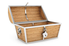 Old Wooden Pirate Treasure Chest Stock Image