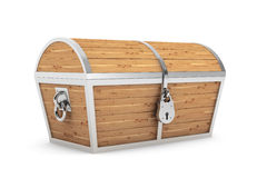 Old Wooden Pirate Treasure Chest Royalty Free Stock Images