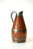 Old wooden pitcher Stock Image