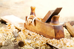Old wooden plane Royalty Free Stock Images