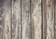 Old wooden plank with cracked white paint Stock Photos