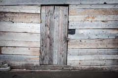 Old wooden plank door Royalty Free Stock Photo