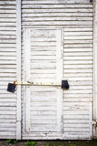 Old wooden plank door Stock Photo