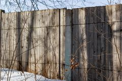 The old wooden plank fence. Closed area royalty free stock images