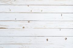 Old wooden plank painted in white color with copy space. stock photos
