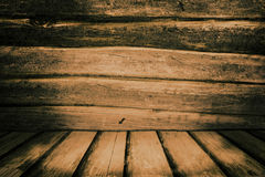Old Wooden Planks. Brown Old Wooden Planks Background Stock Photo