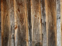 Old wooden planks background. Old boards connected as a wall Stock Photos