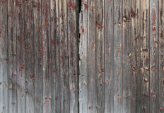 Old Wooden Planks Background Texture. Old Worn Wooden Planks with Red Peeling Paint Background Texture Stock Photography