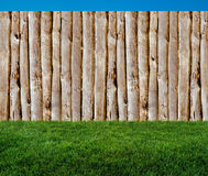 Old wooden planks in backyard Stock Photography