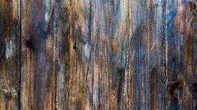 Old wooden planks with degraded blue paint. Over it and a lot of details stock photography