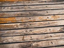 Old wooden planks gritty wood texture background Stock Photos