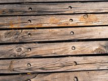 Old wooden planks gritty wood texture background Stock Photo