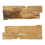 Old wooden planks isolated white background Royalty Free Stock Photos