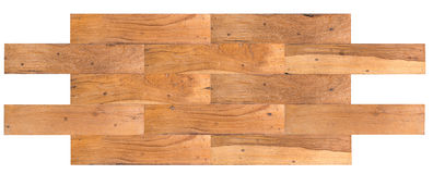 Old wooden planks jointed into panel Royalty Free Stock Photo