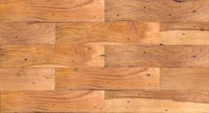 Old wooden planks jointed into panel Royalty Free Stock Image
