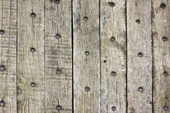 Old wooden planks with nails Royalty Free Stock Images