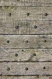 Old wooden planks with nails Royalty Free Stock Photos
