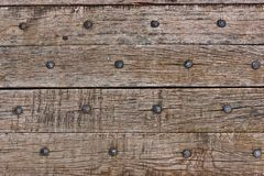 Old wooden planks with nails Stock Photos