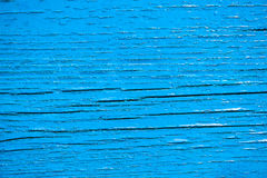 Old wooden planks painted with blue paint Stock Photography