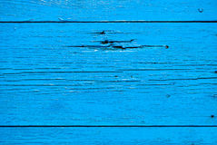 Old wooden planks painted with blue paint Royalty Free Stock Image