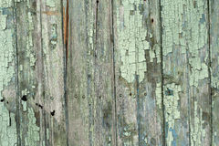 Old wooden planks with peeling paint Stock Photos