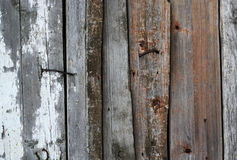 Old wooden planks with remnants of paint Stock Photos