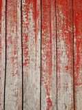 Old wooden planks with shelled red paint Royalty Free Stock Photo