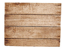 Old wooden plate isolated Stock Photo