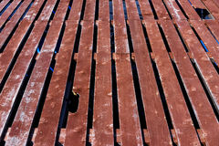 Old wooden platform Stock Image