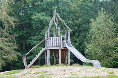 Old wooden playground slide Royalty Free Stock Photos