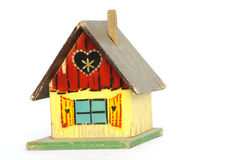 Old wooden playhouse toy Royalty Free Stock Photo
