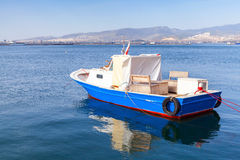 Old wooden pleasure boat anchored in Izmir Royalty Free Stock Photo