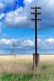 Old wooden poles Stock Photography