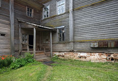 Old wooden porch Stock Photography