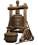 Old wooden press Royalty Free Stock Photos