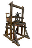 Old wooden printing press Stock Image