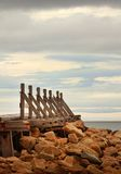 Old wooden quay Royalty Free Stock Photography