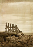 Old wooden quay Stock Photos