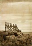 Old wooden quay Stock Photos
