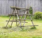 Old wooden rack Royalty Free Stock Image