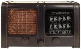 Old Wooden Radio Cutout Stock Photos