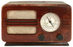 Old Wooden Radio Royalty Free Stock Images