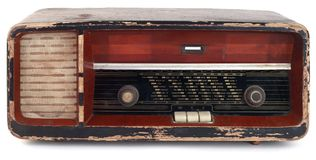 Old Wooden Radio Stock Photography