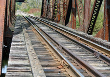 Old Wooden Railroad Bridge Royalty Free Stock Photography