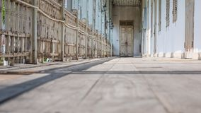 Old wooden rails and floor Royalty Free Stock Photography