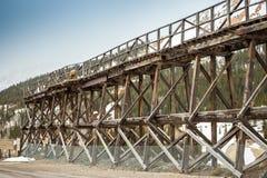 Old wooden railway bridge Stock Photography