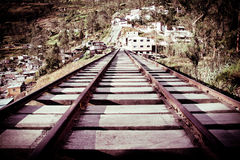 Old wooden Railway color processed Stock Image
