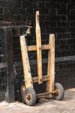Old Wooden Railway porter's barrow Royalty Free Stock Photos