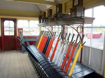 Old wooden Railway Signal Box. Royalty Free Stock Photography