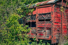 Old wooden railway wagon Royalty Free Stock Images
